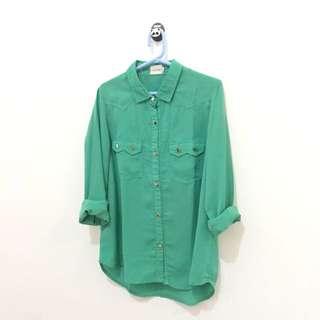 Gaudi Green Shirt