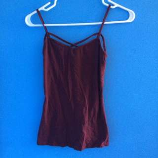 Size S Burgundy Tank Top