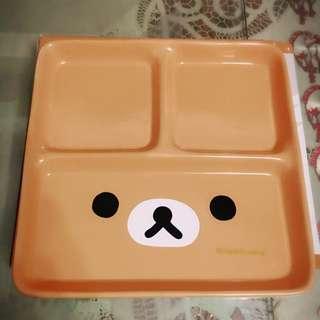 拉拉熊大臉陶瓷方隔盤