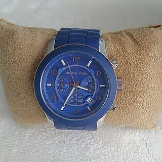 Michael Kors Silicone Watch- Blue