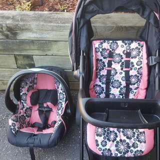 Evenflo Stroller And Matching Infant Car Seat