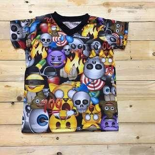 Vneck Tee Emoji Design Promo Sale @100