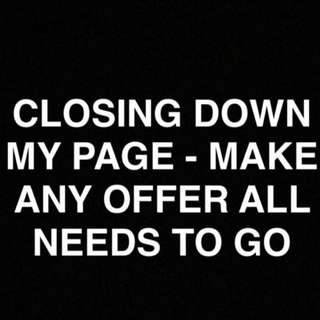 MAKE OFFERS- CLOSING DOWN MY PAGE