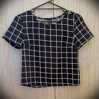 Forever 21 Geometric Top -SMALL US