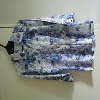 Floral Blouse, Size 10-12