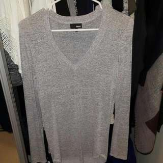 Wilfred Free - Heather grey white top