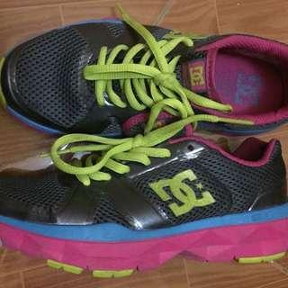 Sepatu DC Unilite trainer Grey-Yellow