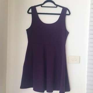 Purple Skater Dress 16-18