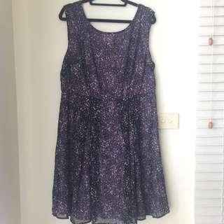 Purple Flower Dress 1xl