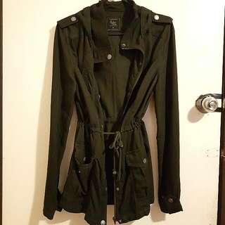 Khaki Hooded Light Jacket