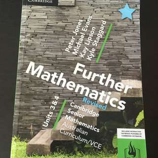 Further Mathematics Units 3/4 Textbook