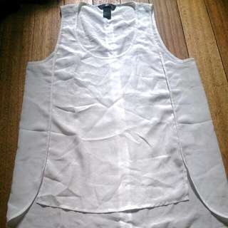 Authentic H & M White See Through Blouse