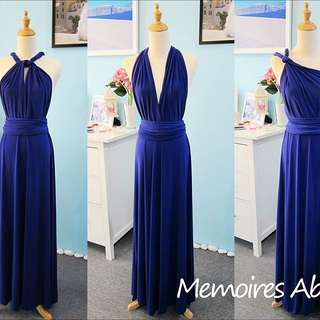 Convertible Long Dress - Purple