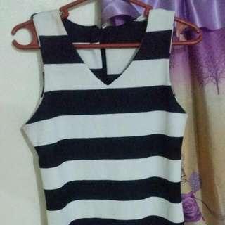 Mermaid Style Stripe Dress