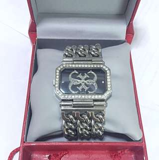 Guess Large Chain Bracelet Watch