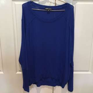 Nude Lucy Oversize Blue Top