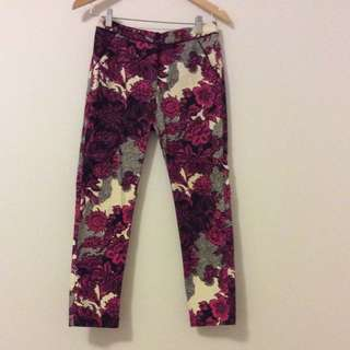 Topshop Size 8 Patterned Trousers