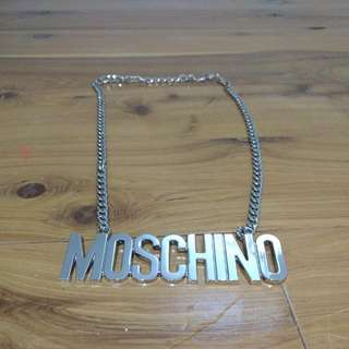 Moschino Name Plate Necklace