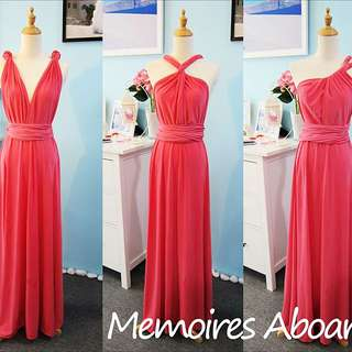 Convertible Long Dress - Pink