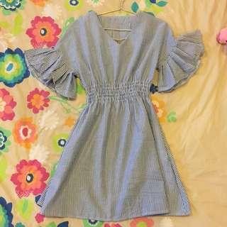 Beautiful Blue Striped Dress