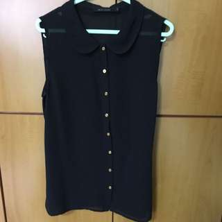 G2000 Black Formal Collared Top