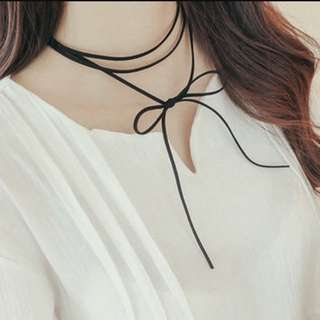 Long Choker Tie Ribbon Suede Leather Cord #easter40