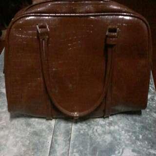 Unbranded Brown Snake Skin Bag