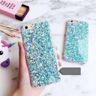 [PO] iPhone 6/6S Glittery Turquoise Blue Phone Case