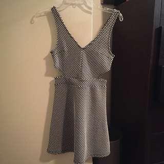 H&M Polka Dot Cut Out Dress