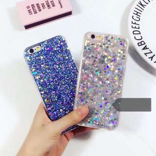 LAST PIECE INSTOCK iPhone 6/6S Blue Silver Glitter Phone Case