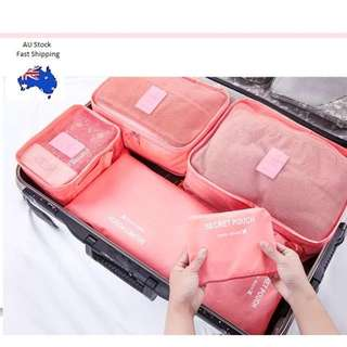 6pcs Storage Organiser Travel Bags / Pouches - Perfect With Luggage For Holiday -