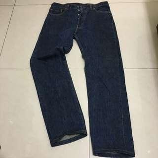 古著 Levi's 501 早期美製原色排釦牛仔褲