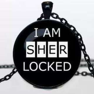 I AM SHERLOCKED pendant necklace