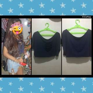 Preloved Cropped-top