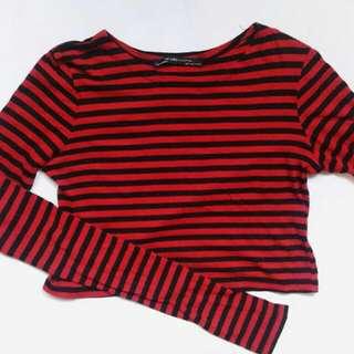ZARA Long Sleeves Crop top