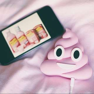 Pink Poop/Shit iPhone Emoji Power Bank