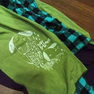 🚚 0416x1024購入手工拼布圍巾