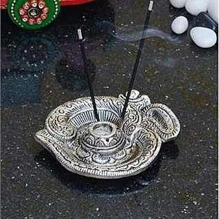 Indian Hindu Prayer Worship Items Gayatri Mantra Incense Holder OM Tray Etc