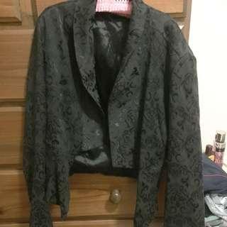 Patterned Black Jacket