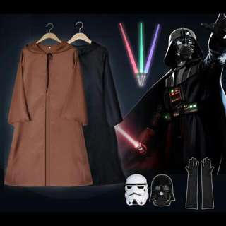 Star Wars Jedi Sith Kids Robe Costume Luke Skywalker Yoda Dress Halloween Performance Events Cosplay