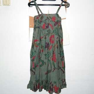 Batik Bow Baby Doll Dress