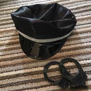 Cop Hat & Handcuffs