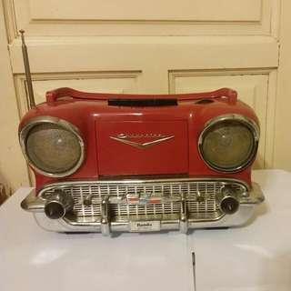 美國古董 汽車型收音 機 及卡式機