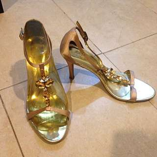 VNC - T-Strap Heels With rhinestones