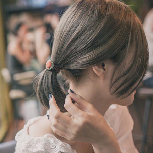 《毛呢釦髮圈》