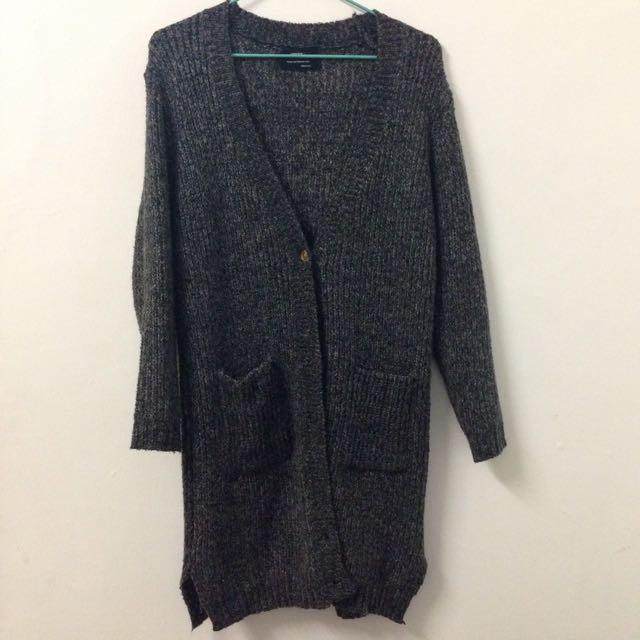 二手 柔軟混色針織毛衣外套