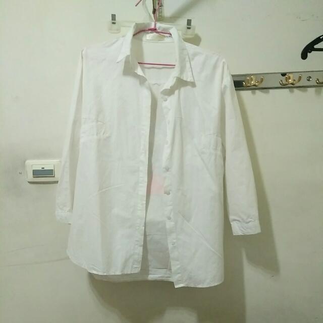 白襯衫 長版 米奇