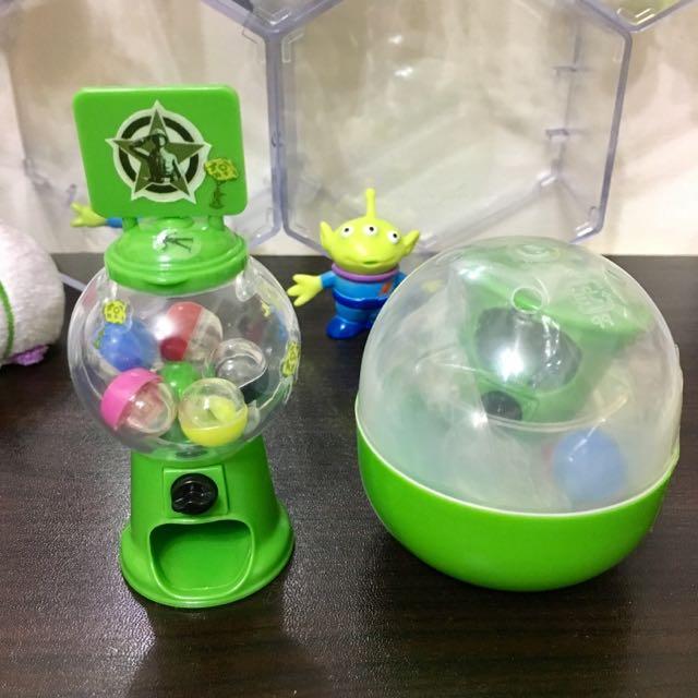玩具總動員 Toy story 扭蛋 迷你扭蛋機 綠色