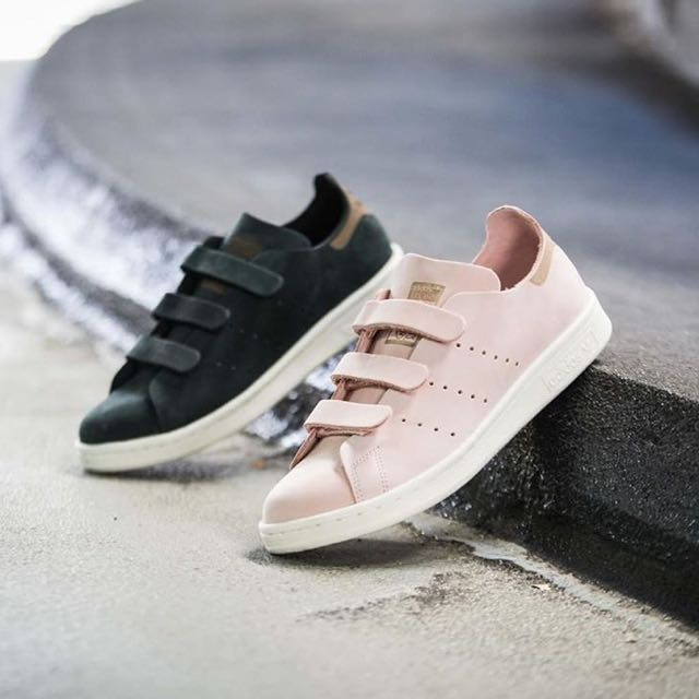 Super Adidas Vapour Pink Velcro Stan Smith CF, Women's Fashion, Shoes on  QV22