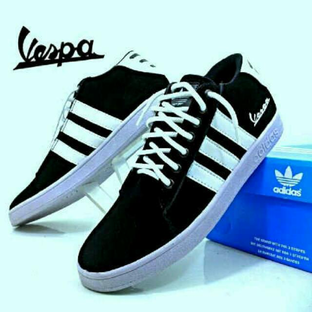 Adidas Vespa Hitam Strip Putih Men S Fashion Men S Footwear On